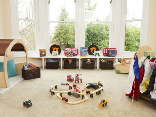 Reading area in the Toddlers room at Juniors Day Nursery, Tunbridge Wells.